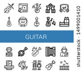 set of guitar icons such as... | Shutterstock .eps vector #1499001410