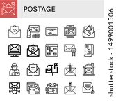 set of postage icons such as... | Shutterstock .eps vector #1499001506