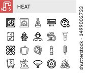 set of heat icons such as hot... | Shutterstock .eps vector #1499002733