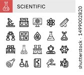 set of scientific icons such as ... | Shutterstock .eps vector #1499002820