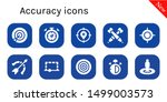 accuracy icon set. 10 filled... | Shutterstock .eps vector #1499003573