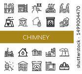 set of chimney icons such as... | Shutterstock .eps vector #1499004470