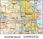 milwaukee  wisconsin area map | Shutterstock .eps vector #149901923