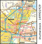 jackson  mississippi area map   Shutterstock .eps vector #149901929