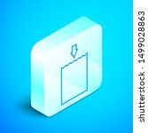 isometric line paper shopping... | Shutterstock .eps vector #1499028863