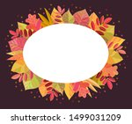 vector template with autumn...   Shutterstock .eps vector #1499031209