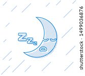blue line moon icon isolated on ... | Shutterstock .eps vector #1499036876