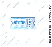 blue line ticket icon isolated... | Shutterstock .eps vector #1499037509