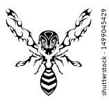black celtic hornet abstract... | Shutterstock .eps vector #1499045429