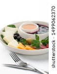 breakfast plate with olives ...   Shutterstock . vector #1499062370
