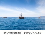 Sailing Old Ships In A Sea