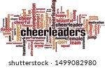 cheerleaders word cloud concept.... | Shutterstock .eps vector #1499082980