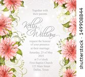 wedding invitation or card with ... | Shutterstock .eps vector #149908844