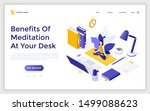 landing page template with... | Shutterstock .eps vector #1499088623