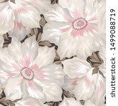 floral seamless pattern. flower ... | Shutterstock . vector #1499088719