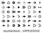 set of black arrows  forward... | Shutterstock .eps vector #1499101010