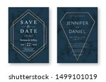 wedding card design with golden ... | Shutterstock .eps vector #1499101019