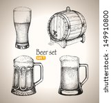 beer set. sketch elements for... | Shutterstock .eps vector #149910800