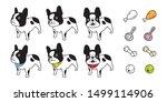 dog vector french bulldog puppy ... | Shutterstock .eps vector #1499114906