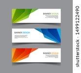 vector abstract design banner... | Shutterstock .eps vector #1499122490