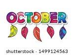 october cartoon paper cutout... | Shutterstock .eps vector #1499124563