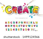 cartoon colorful font for kids. ... | Shutterstock .eps vector #1499124566