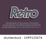 retro color font and alphabet.... | Shutterstock .eps vector #1499125676