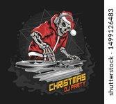 skull santa claus with... | Shutterstock .eps vector #1499126483