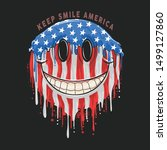 america usa flag smile emoticon ... | Shutterstock .eps vector #1499127860