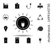 socket  circle icon . set of...