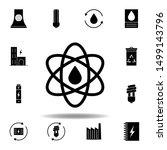 atom  oil icon . set of...