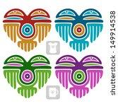 vector indian pattern set in...   Shutterstock .eps vector #149914538