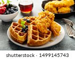 Waffles With Fried Chicken And...