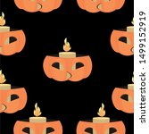 Halloween Pattern. Pumpkin Wit...