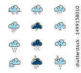 Set Of Weather Icon Vector....