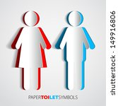 paper toilet symbols   restroom ... | Shutterstock .eps vector #149916806