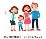 kids with parent doctor... | Shutterstock .eps vector #1499176223