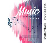 musical event background with... | Shutterstock .eps vector #1499181446