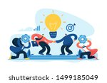 brands partnership. business... | Shutterstock .eps vector #1499185049