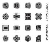 computer chips and electronic... | Shutterstock .eps vector #1499186000