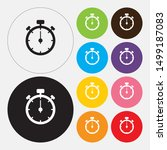 stop watch icon  flat design... | Shutterstock .eps vector #1499187083