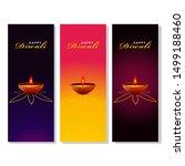 diwali festival holiday design...   Shutterstock .eps vector #1499188460
