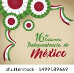 mexico independence day... | Shutterstock .eps vector #1499189669