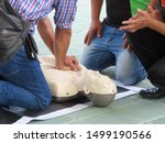 Small photo of Training activities on first aid methods to let people know CPR.