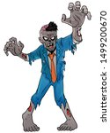 Vector Of Scary  Cartoon Zombi...