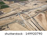 Construction of Interstate 10 Interchange at the 303 Freeway near Goodyear, Arizona  - stock photo
