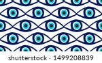 seamless pattern with eyes... | Shutterstock .eps vector #1499208839