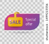 retail sale special offer tag....