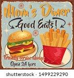 vintage mom's diner metal sign...   Shutterstock .eps vector #1499229290