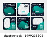 set of social media post... | Shutterstock .eps vector #1499238506
